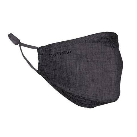 Cotton Casual Face Mask / Color-Black Heather