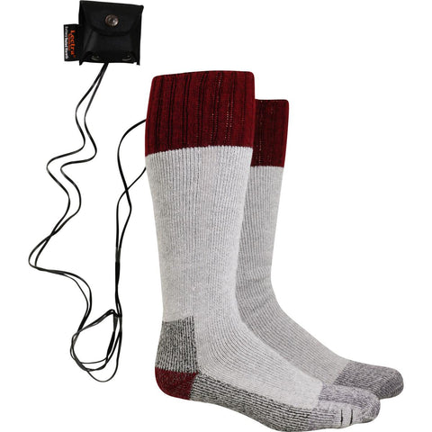 Lectra Sox Battery Heated Wader Socks / Color-Maroon