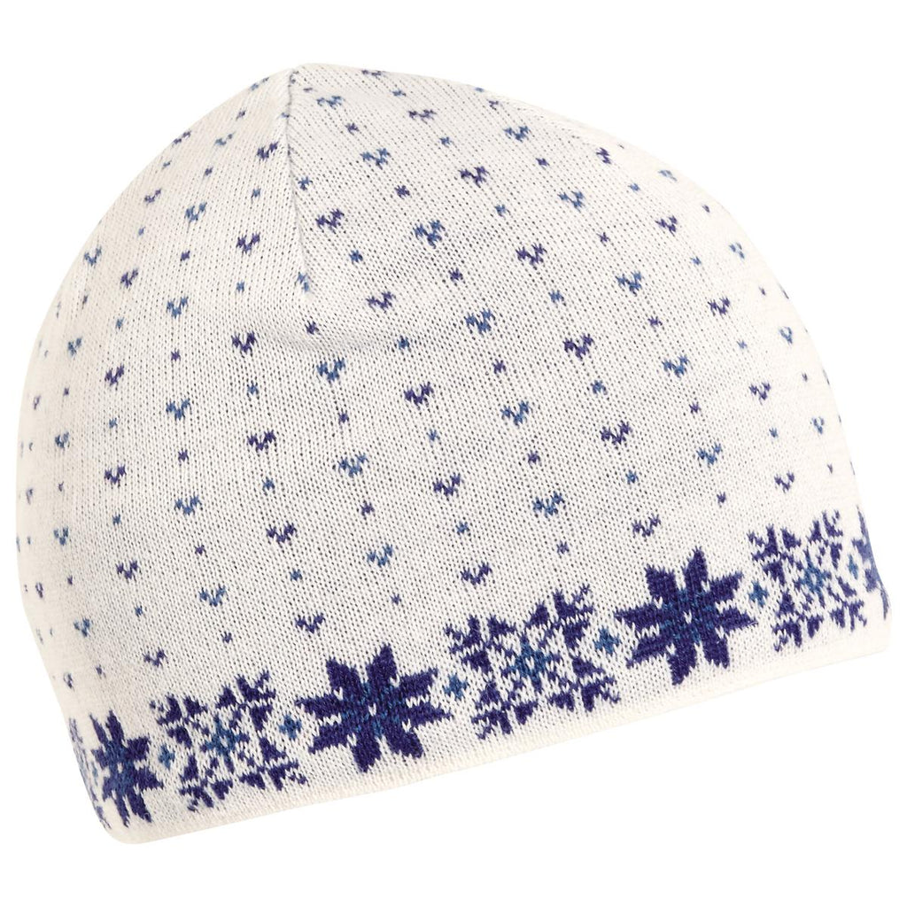 Flurry Knit Beanie / Color-White