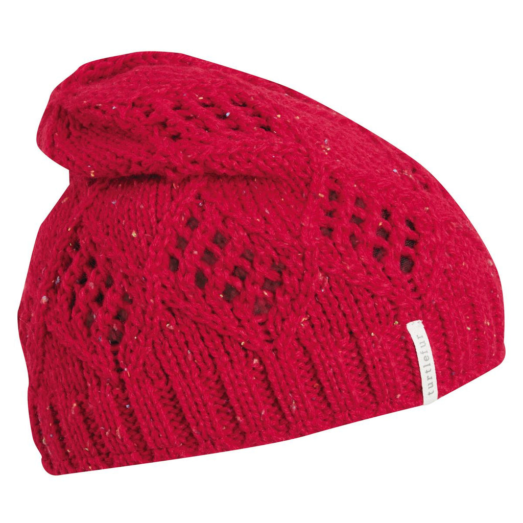 Tiger Tail Slouchy Beanie / Color-Red
