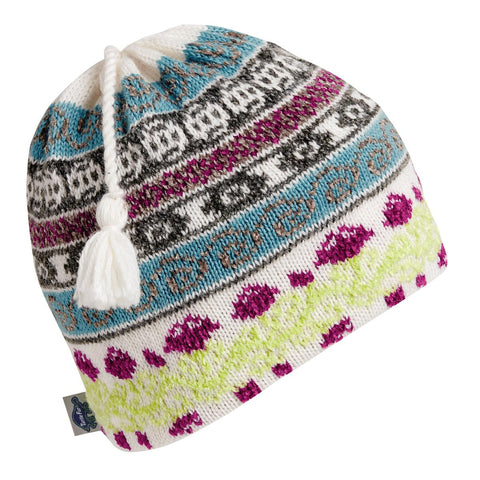 Lady Fairisle Tassel Beanie / Color-Dusty Miller