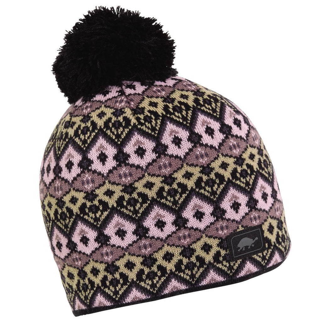 Fluffy Pants Pom Beanie / Color-Black