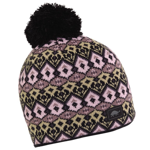 Fluffy Pants Pom Beanie / Color - Black