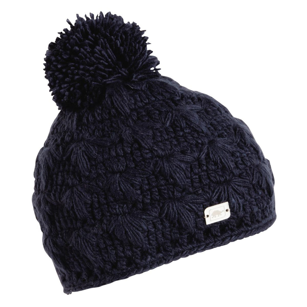 Rhoda Fleece Lined Pom Beanie / Color-Navy