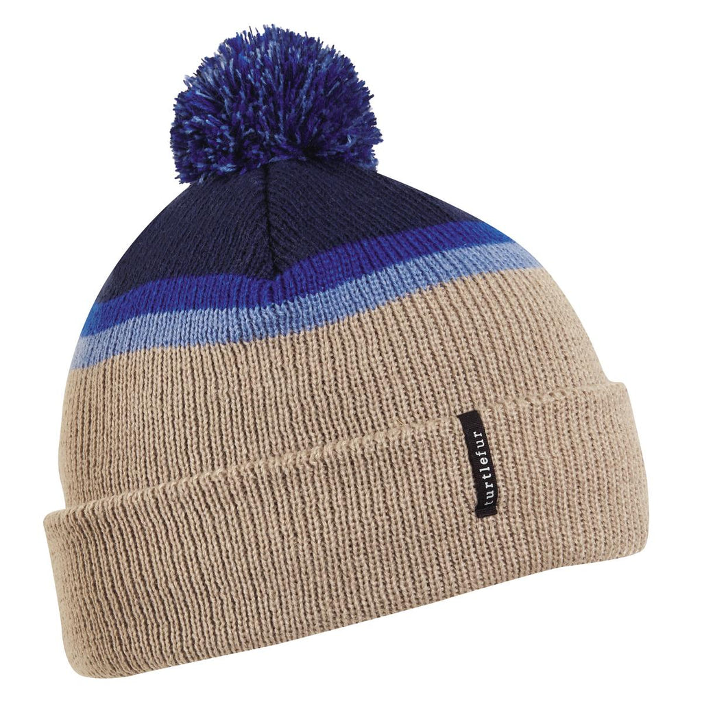 Kids Charles Pom Beanie / Color-Navy