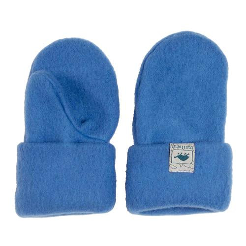 Kids Original Turtle Fur Fleece Mittens / Color-Blue Whimsy