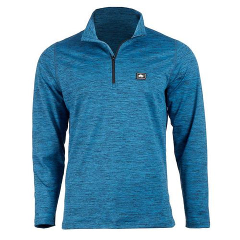 Men's Comfort Shell Stria Carapace High Energy 1/4 Zip / Color-Blue Moon