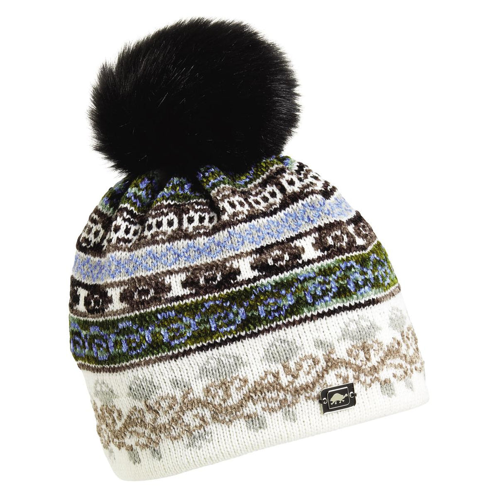 HRH Lady Fairisle Beanie / Color-White