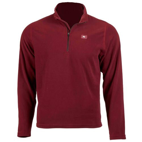 Men's Micro Fur Fleece Carapace 1/4 Zip / Color-Wine