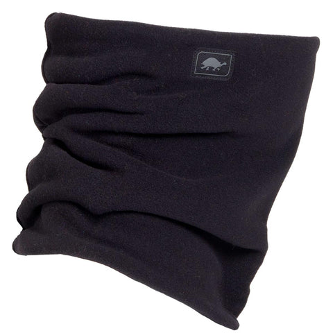 Micro Fur Fleece Double-Layer Neck Warmer / Color-Black