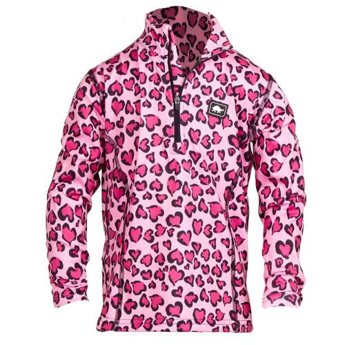 Girls Comfort Shell Kira High Energy 1/4 Zip / Color-Wild At Heart