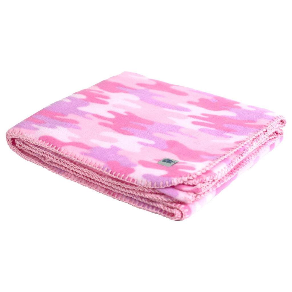 Kids' Fleece Camping Blanket / Color-Pink Camo