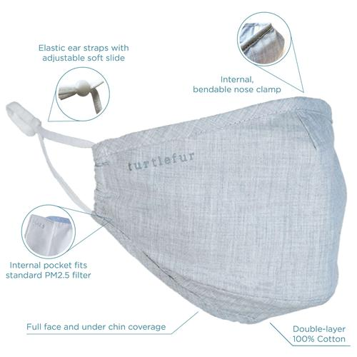 Cotton Casual Face Mask / Color-Gray