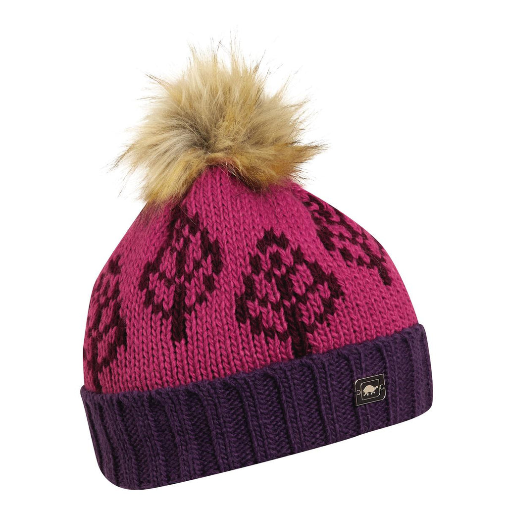 Lizza Pom Beanie / Color-Blackberry