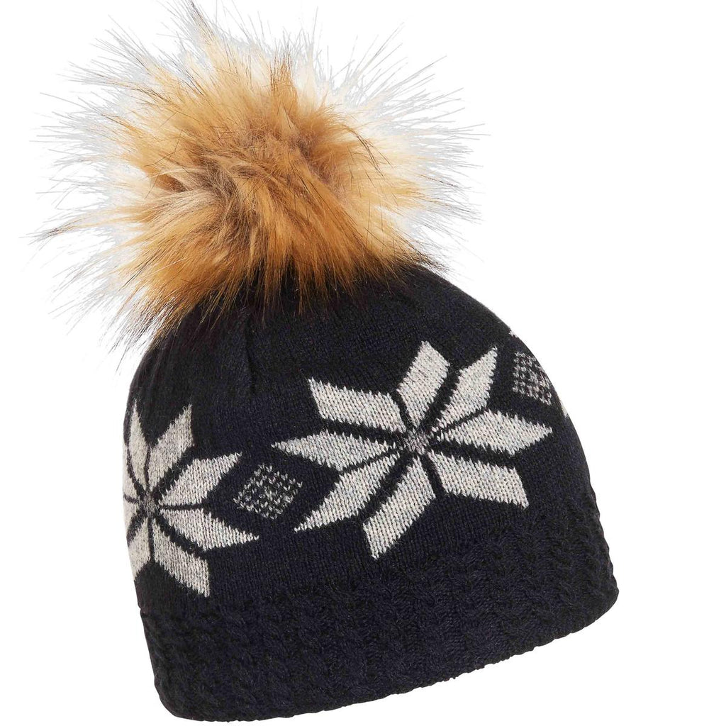 Snap Faux Fur Pom / Color-Black