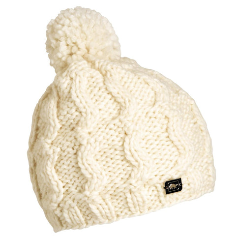 Puli Hand Knit Beanie / Color - White