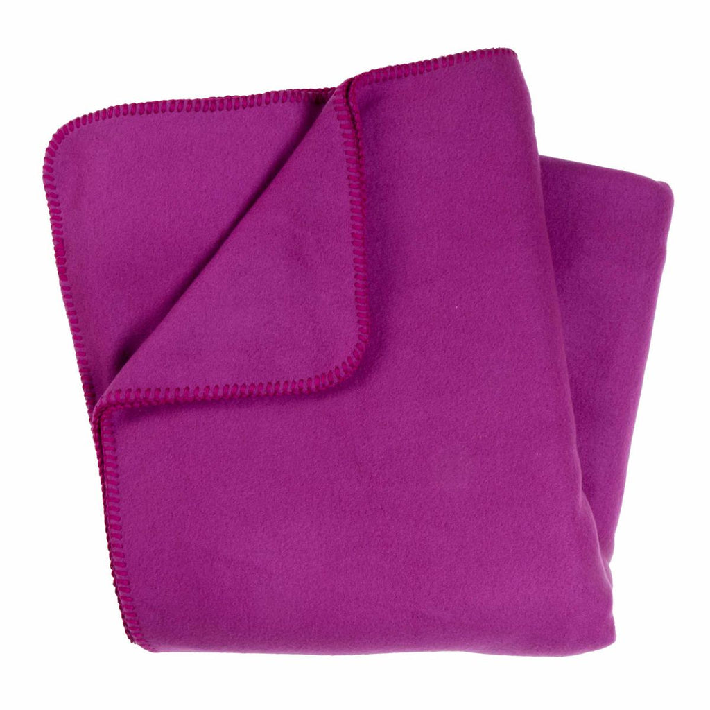 Original Turtle Fur Fleece Oversized Throw Blanket / Color-Viva Violet