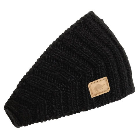 V-Train Hand Knit Headband / Color - Black