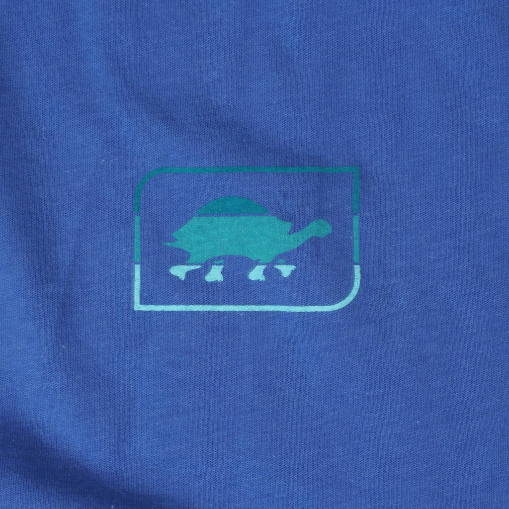 Women's Aqua Turtle T-Shirt / Color-Blue Steel