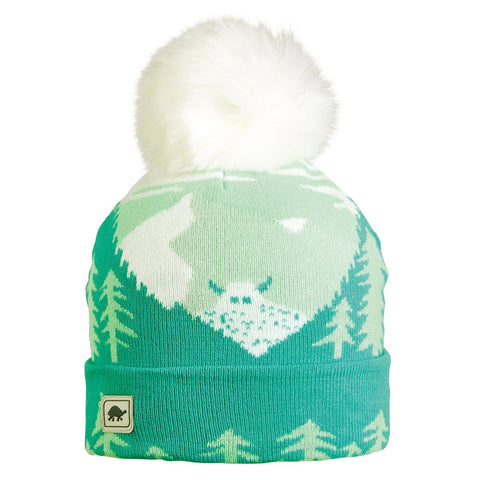 Peeking Yeti Faux Fur Pom / Color-Mermaid
