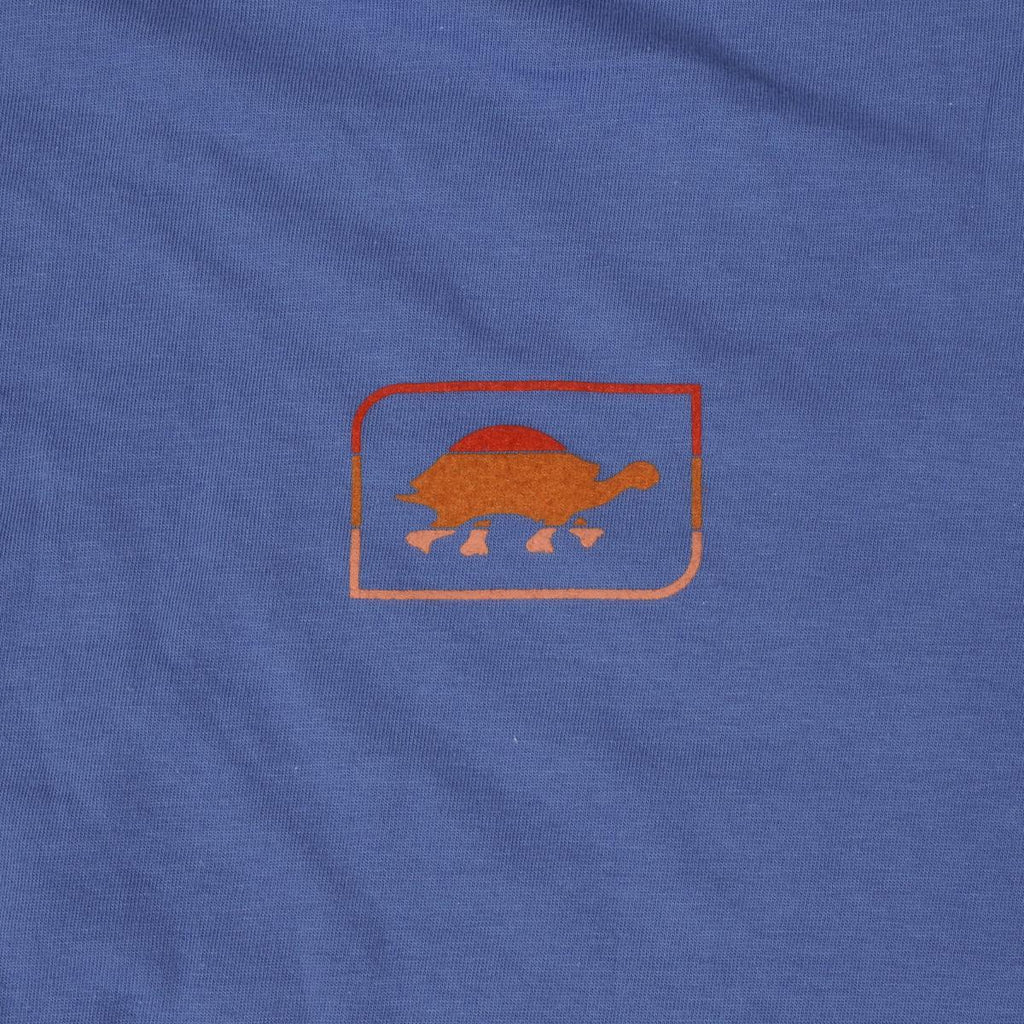 Men's Sunset Turtle T-Shirt / Color-Blue Steel
