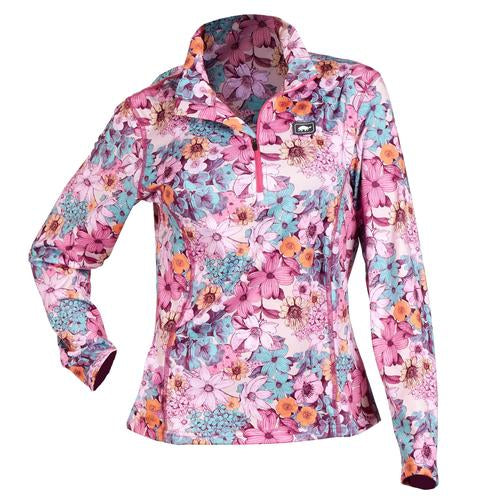 Women's Comfort Shell Kira High Energy 1/4 Zip / Color-Pinkie Swear