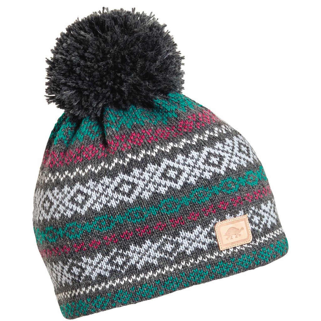 Whirlaway Pom Beanie / Color-Charcoal Heather