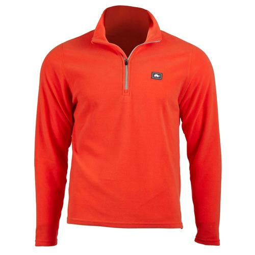 Men's Micro Fur Fleece Carapace 1/4 Zip / Color-Ember