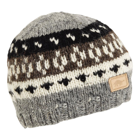 Nepal Kanan Wool Beanie / Color-Charcoal