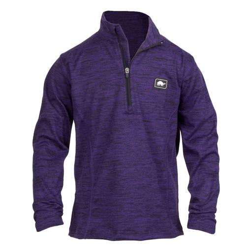 Girls Comfort Shell Stria Kira High Energy 1/4 Zip / Color-Purple Haze