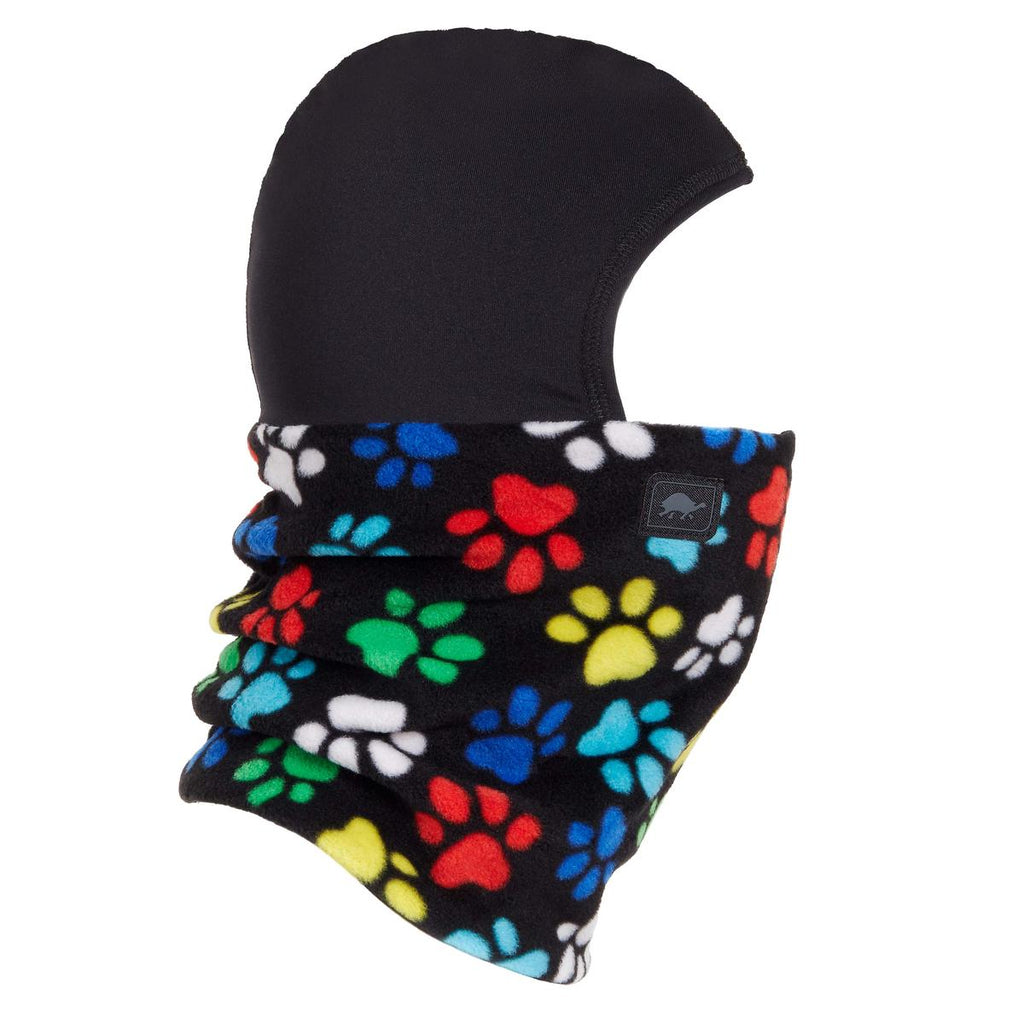 Kids Playful Prints Fleece Shellaclava / Color-Paws
