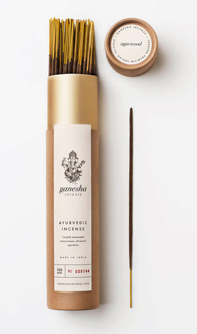 Agarwood Gold - Premium Ayurvedic Incense (100g)