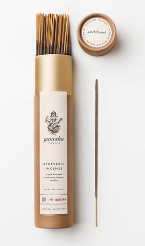 Sandalwood Gold - Premium Ayurvedic Incense (100g)