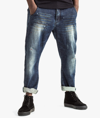 FUNNEL RELAXED FIT DENIM JEANS