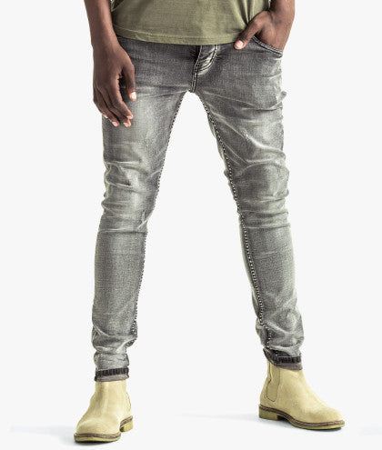 TRENCH SKINNY FIT DENIM JEANS