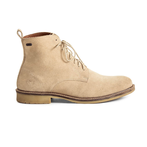 Mens-Boot-Suede-Tan-Lace-up-Front-View
