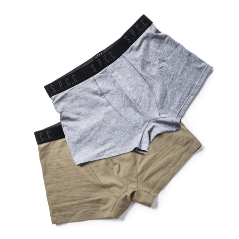 Shop Royal Boxers Olive/Grey (2 Pack) for R 399.95 | Accessories | Accessories, boxer, Boxers, briefs, Fatigue, Grey, Lt Grey, Men, New In - S18, Olive, September 18, Underwear | S.P.C.C | Sergeant Pepper Clothing Co