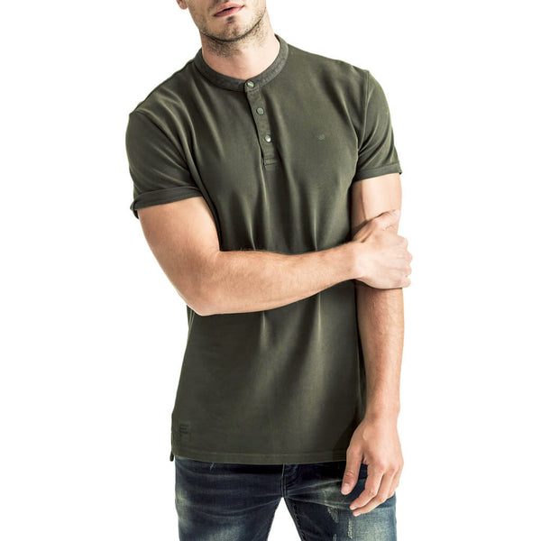 Mens-Golfer-T-Shirt-Tee-Olive-Front-View