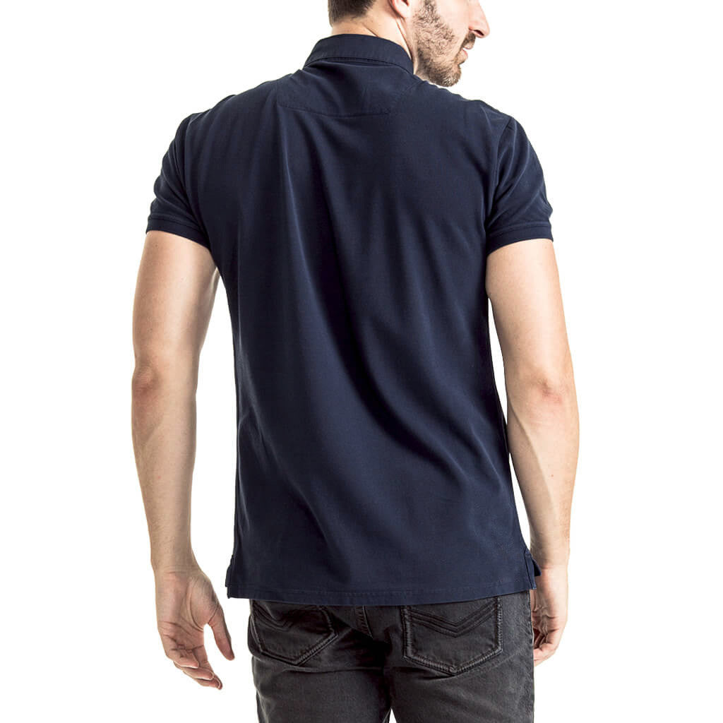 Mens-Golfer-T-Shirt-Navy-Back-View
