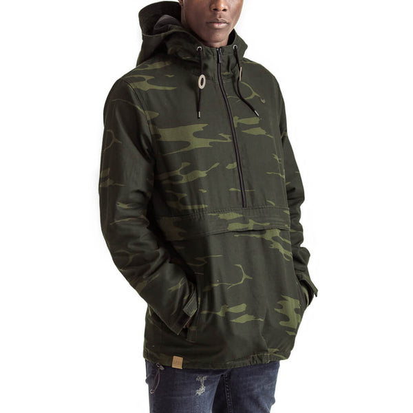 Mens-Jacket-Hoody-Pullover-Camo-Front-View