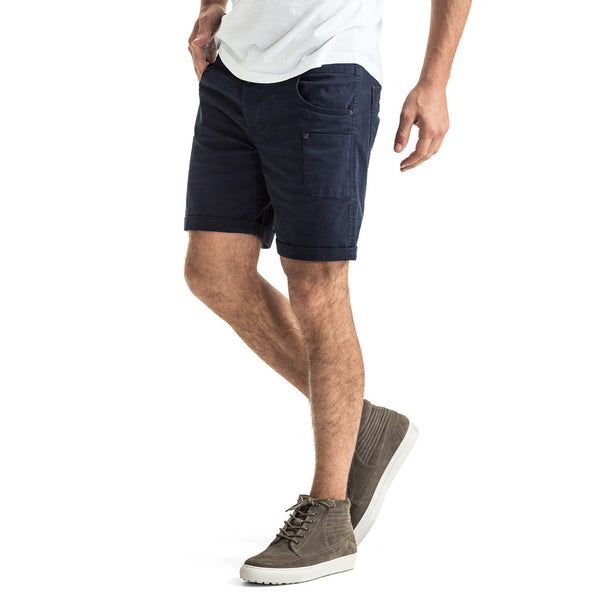 Mens-Shorts-Chino-Navy-Front-View