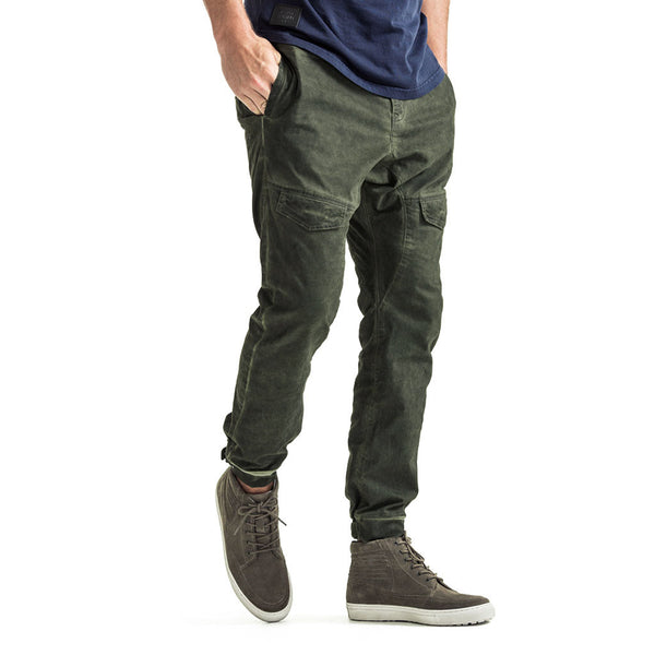 Mens-Chino-Jogger-Olive-Front-View