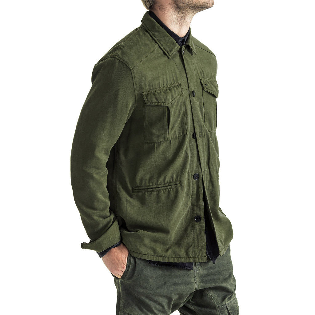Mens-Shacket-Shirt-Jacket-Olive-Front-View