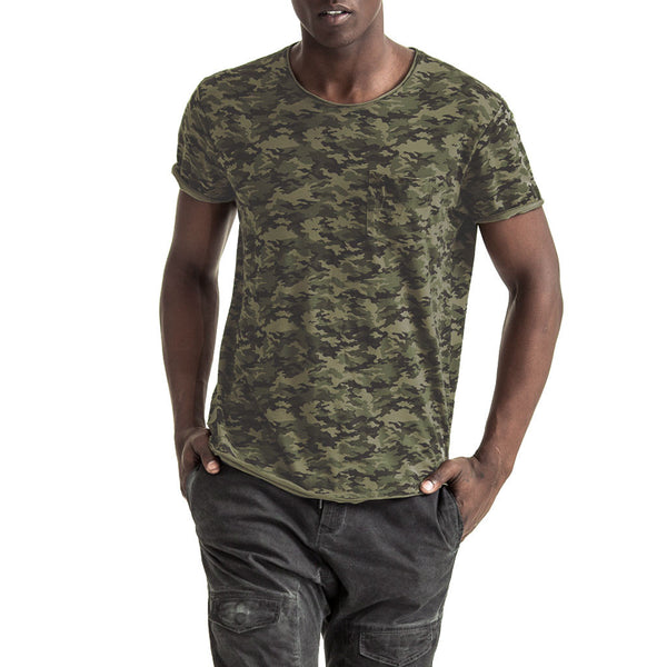 Mens-T-shirt-Tee-Camo-Cotton-Front-View