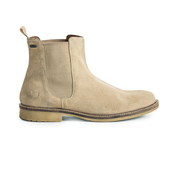 Mens-Chelsea-Boot-Suede-Tan-Front-View