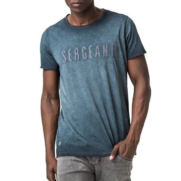 Sergeant Graphic Printed T-Shirt - Blue
