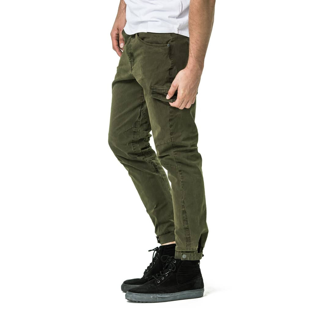 Mens-Jogger-Chino-Fatigue-Olive-Side-View
