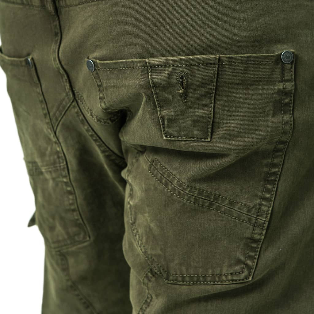 Mens-Jogger-Chino-Fatigue-Olive-Back-View