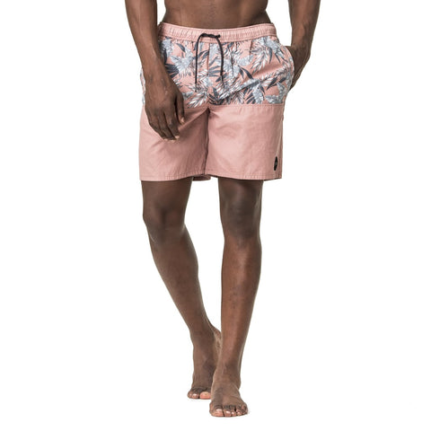 Mens-Baggies-Swim-Shorts-Dusty-Pink-Floral-Front-View
