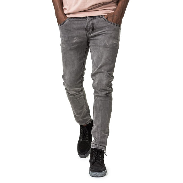 Feather Slim Fit Denim Jeans - Warm Grey